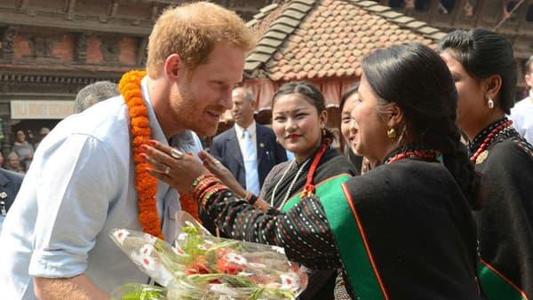 Le Prince Harry à Katmandou en mars 2016