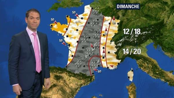Les prévisions Météo France pour le dimanche 14 octobre.
