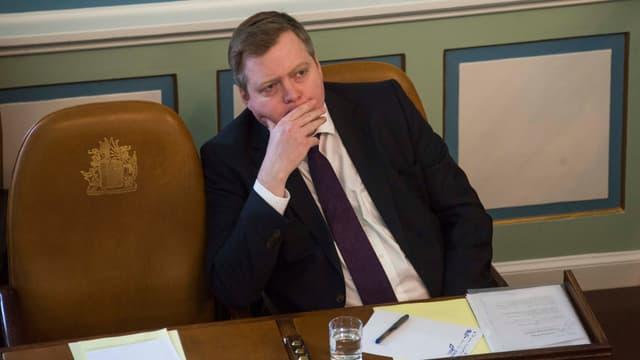 Le Premier ministre islandais Sigmundur David Gunnlaugsson.