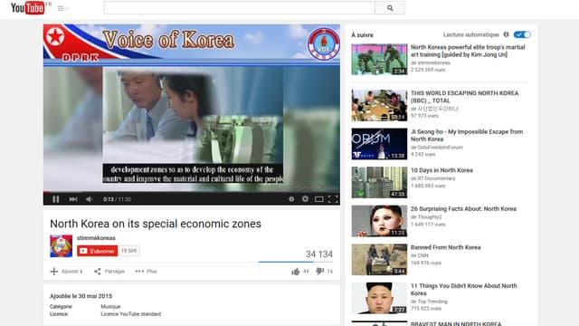La vidéo censée attirer les investisseurs étrangers en Corée du Nord a été publiée sur You Tube ce week-end.