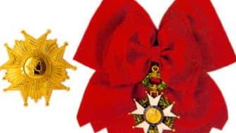 La légion d'honneur est l'une des plus hautes décorations françaises