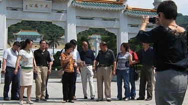 Des touristes chinois à Taïwan en 2007.