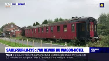 Sailly-sur-la-Lys: le wagon-hôtel de la Gare des années folles part pour son dernier voyage en Bretagne