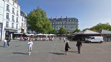 L'agresseur présumé a été interpellé aux abords de la place du Commerce, à Nantes (photo d'illustration).