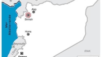 L'ARMÉE SYRIENNE PÉNÈTRE DANS LA VILLE DE BINNICH, PRÈS DE LA FRONTIÈRE TURQUE