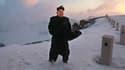 Kim Jong-un au sommet enneigé du Mont Paektu, en Corée du Nord.