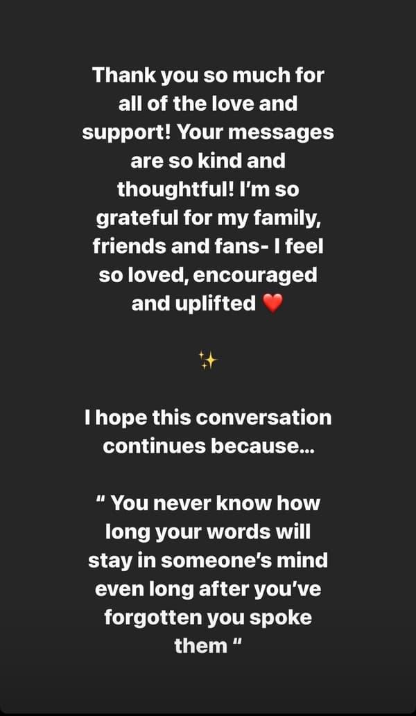 Le message de Sloane Stephens sur Instagram