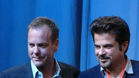 """Anil Kapoor (à droite) pourrait reprendre le rôle de Kiefer Sutherland (à gauche) dans l'adaptation indienne de """"24 heures chrono""""."""