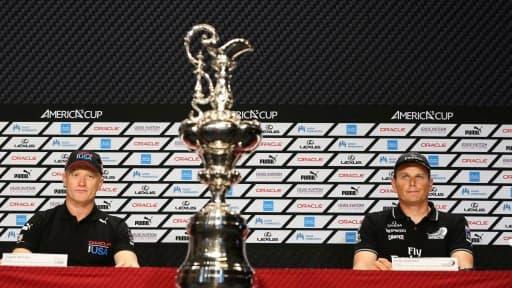 Le skipper américain d'Oracle (à gauche) et néo-zélandais de Team New Zealand vont s'affronter pour remporter la Coupe de l'America.
