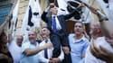 Michel Castellani fête sa victoire ce dimanche 11 juin, à Bastia.