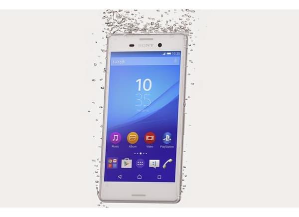 Le smartphone Sony M4 Aqua, avec un indice élevé de protection IP 68, supporte une immersion jusqu'à 1,5 mètres pendant 30 minutes