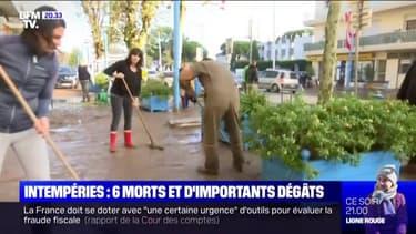À Mandelieu, l'opération nettoyage après les inondations