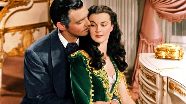 """Clark Gable et Vivien Leigh dans """"Autant en emporte le vent"""""""