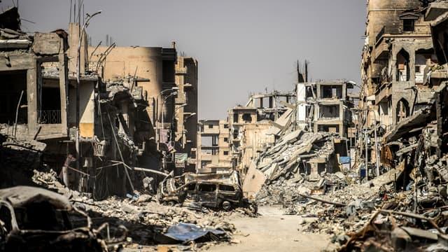 Une vue de la ville de Raqqa, occupée par Daesh pendant trois ans, libérée le 21 octobre 2017. (Photo d'illustration)