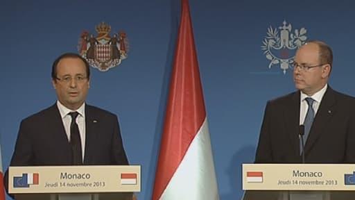 François Hollande à Monaco, jeudi 14 novembre
