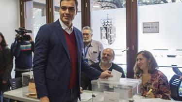 Le Premier ministre socialiste espagnol Pedro Sanchez, lors des législatives du 10 novembre 2019