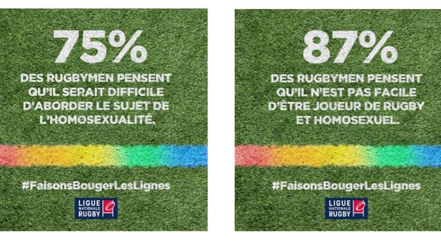 Opération de la LNR à l'occasion de la journée mondiale contre l'homophobie.