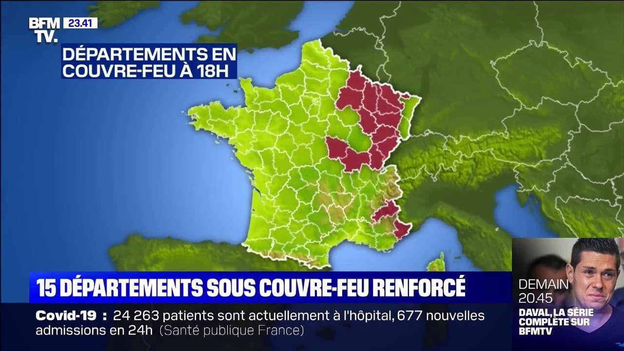 Covid 19 15 Departements Sous Couvre Feu Renforce Des Ce Samedi A 18h