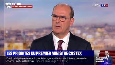 """Jean Castex veut mettre la priorité sur """"le plan de relance du pays, la reconstruction, l'écologie, le dialogue social"""""""