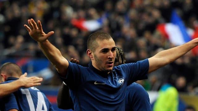 Karim Benzema a signé son 12e but en équipe de France, son 4e avec Laurent Blanc