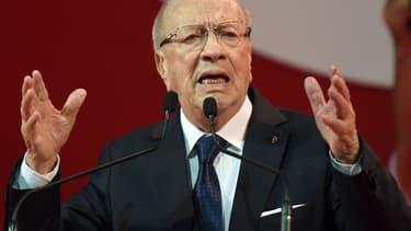 Béji Caïd Essebsi, leader du parti Nidaa Tounès et candidat favori à la présidentielle du 23 novembre.