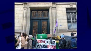 Blocage en cours à Paris IV