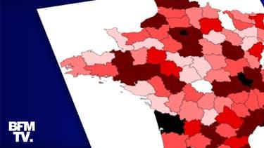 Epidémie de covid-19 : le point dans chaque département