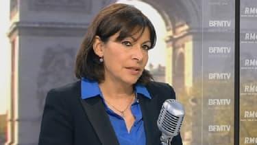 La candidate socialiste Anne Hidalgo sur BFMTV le 29 avril 2013.