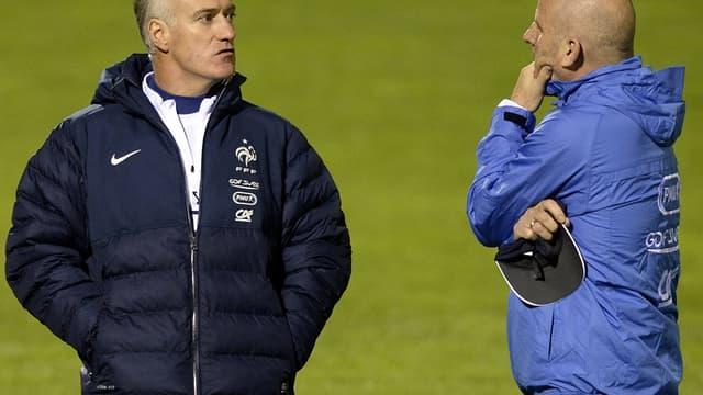 Didier Deschamps et Guy Stephan