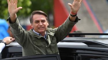 Jair Bolsonaro, le président-élu du Brésil, lors du second tour de la présidentielle, le 28 octobre.