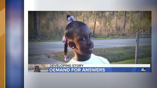 La petite Raniya Wright, âgée de 10 ans. - Capture d'écran ABC News.