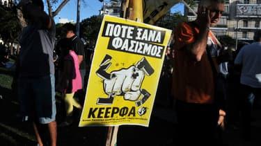 Manifestation contre les néo-nazis à Athènes, le 19 septembre 2013.