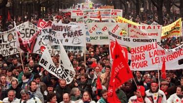 Les manifestations de 1995 à Paris.