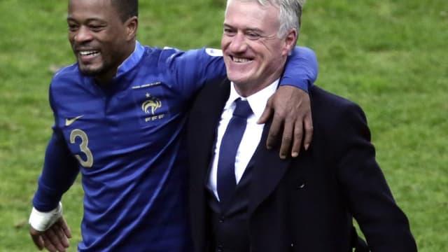 Patrice Evra et Didier Deschamps