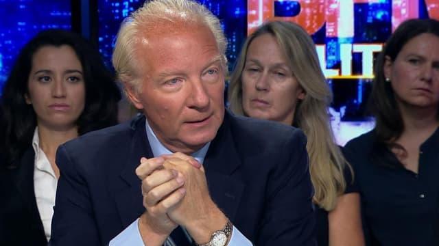 Brice Hortefeux sur le plateau de BFM Politique, le 13 septembre.