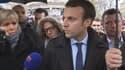 Emmanuel Macron place de la République, samedi après-midi.