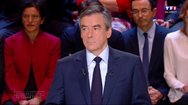 François Fillon lors du débat.