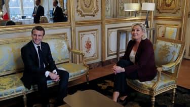 Emmanuel Macron et Marine Le Pen - Image d'illustration