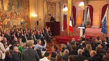 Sous les lambris de l'Elysée, François Hollande a réaffirmé l'importance du rôle de la France en Europe.