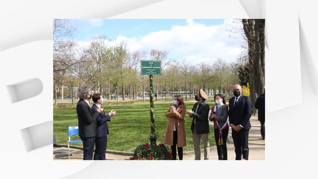 Une allée parisienne a été baptisée au nom du commandant Massoud à Paris, le 27 mars 2021