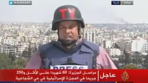 Wael Al-Dahdouh, reporter de guerre qui couvre le conflit israélo-palestinien depuis des années a craqué dimanche.