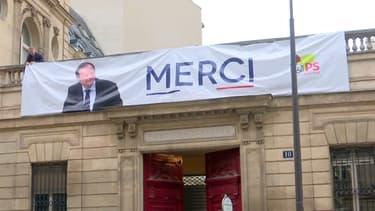 La devanture du parti socialiste à Paris, dimanche 14 mai 2017