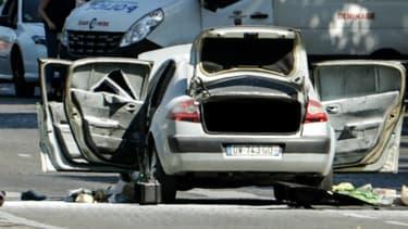 La voiture de l'assaillant