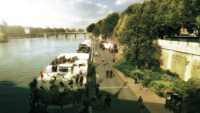 La mairie de Paris veut faire des voies sur berge un parc urbain végétalisé.
