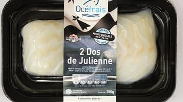 Une barquette de la gamme 100% bretonne d'Océfrais.