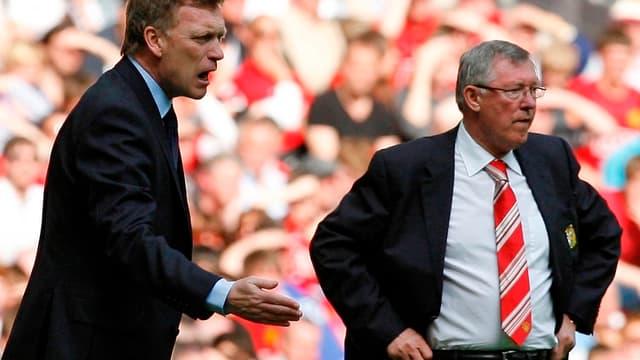 David Moyes aux côtés de Sir Alex Ferguson