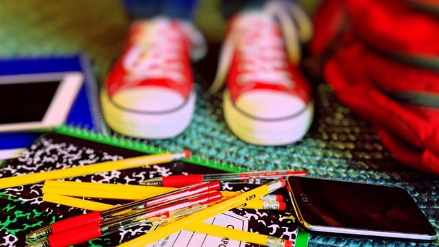 Un collégien avec ses affaires scolaires (photo d'illustration)