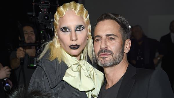Lady Gaga et Marc Jacobs après le défilé à la Fashion Week à New York le 18 février 2016