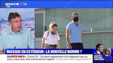 """Éric Caumes, infectiologue: """"L'important, c'est quand même le port du masque en intérieur"""""""