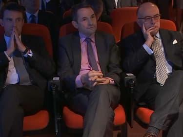 Bernard Cazeneuve et Manuel Valls à Evry, le 9 janvier 2017